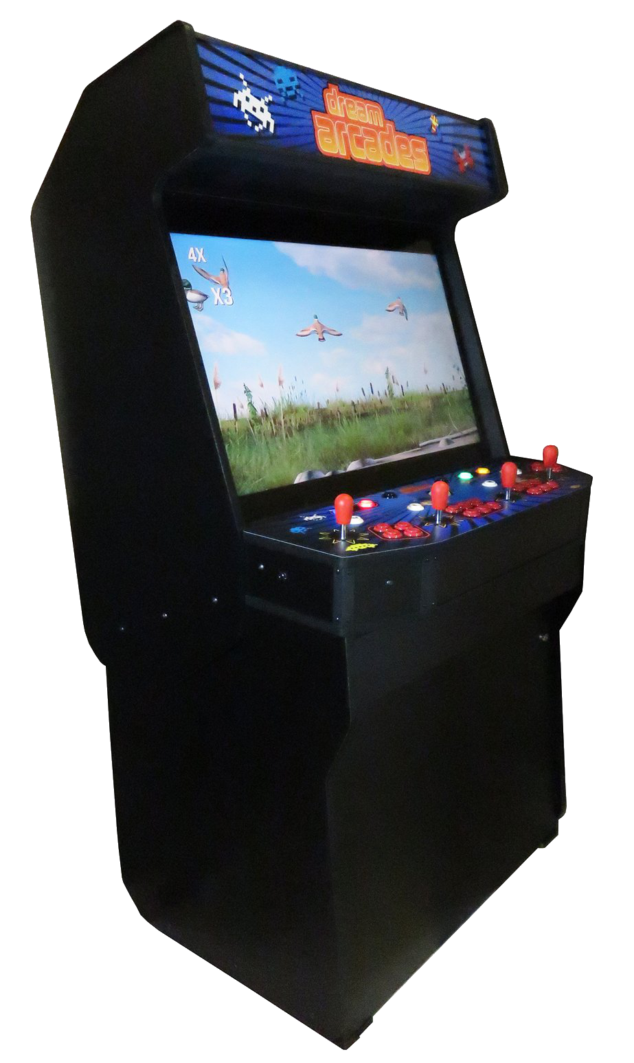 dreamcade vision 40 4 player arcade cabinet. Black Bedroom Furniture Sets. Home Design Ideas