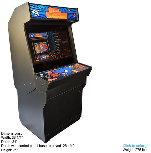 Dreamcade Vision 32 Stand Up Arcade W 32 Inch Arcade Monitor
